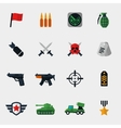 military and war icons flat vector image vector image