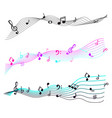 music notes staff sign symbols melody icons vector image