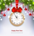 New Year Midnight Background with Clock vector image vector image