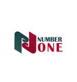 number one letter n icon vector image