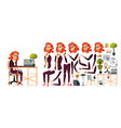 office worker woman businessman human vector image vector image