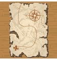 old parchament Treasure map vector image