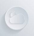 paper circle flat icon sun behind the cloud vector image