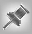 pin push sign pencil sketch imitation vector image vector image