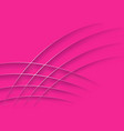 pink abstract background with silver lines vector image vector image