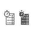 quiz line and glyph icon e learning vector image vector image