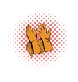 Rancher gloves icon comics style vector image