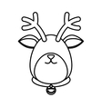 Reindeer xmas cartoon vector image vector image
