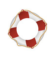 rescue life buoy isolated cartoon design drowning vector image vector image