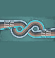 retro poster with infinity loop endless symbol vector image