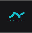 river logo a letter river icon waves icon vector image