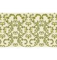 rococo textile design vintage vector image vector image