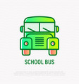 school bus thin line icon vector image