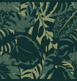 seamless composition dark green color leaves vector image vector image