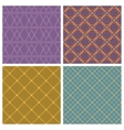 Seamless pattern set Purple background vector image vector image