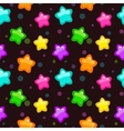 Seamless pattern with colorful bright stars vector image vector image