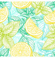 seamless pattern with lemon and mint vector image vector image