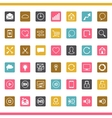 set 42 seo internet icons vector image vector image