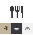 set of 4 editable motel icons includes symbols vector image vector image