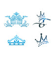 set of crown icon vector image vector image