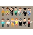 Set of men different characters poses vector image vector image
