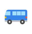 simple van transportation icon flat design vector image vector image