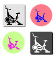 stationary bike flat icon vector image