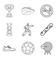 strongest athlete icons set outline style vector image vector image