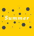 summer inscription on a yellow background vector image