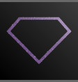 the diamond banner sequin background jewelry frame vector image vector image