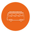 tourist van isolated icon vector image vector image