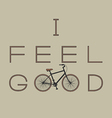 i feel good vector image