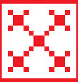 red irish chain pattern - element for design for vector image