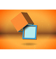 Abstract cube screen vector image
