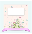 retro flower vertical banners concept vector image