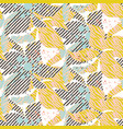 abstract flower seamless shaded pattern vector image vector image