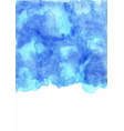 abstract grunge blue watercolor hand painting vector image