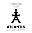 astrology asteroid atlantis vector image vector image