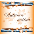 autumn card background vector image
