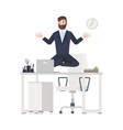 bearded man or office worker dressed in business vector image vector image