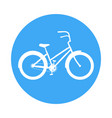 bicycle icon in the style of a road sign blue vector image