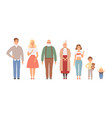 big family portrait father mother daughter vector image vector image