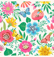 bright flower pattern vector image