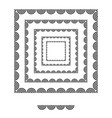 brushs patterns in a square line black shape vector image vector image