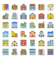 building construction filled outline icon set 23 vector image