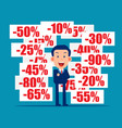 business and discount pricing labels finance and vector image