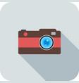 camera flat long shadow icon vector image vector image