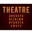 Casino or Broadway Signs style light bulb Alphabet