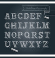 chalkboard typography alphabet doodle style vector image vector image