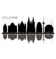 cologne germany city skyline black and white vector image vector image